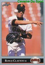 272   ROYCE CLAYTON    SAN FRANCISCO GIANTS  BASEBALL CARD LEAF 1992