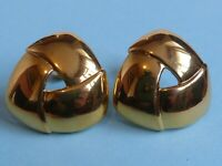 Napier signed vintage gold-tone screw-back earrings