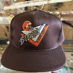 NEW VINTAGE CLEVELAND BROWNS NFL AMERICAN NEEDLE SNAPBACK HAT EMBROIDERED NWT DS