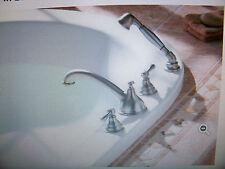 Moen Kingsley Brushed Nickel Roman Tub Faucet w/Handshower T912BN