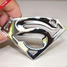 SUPERMAN 3D Chrome Metal Universal Auto Car Logo Sticker Badge Emblem Decals wj
