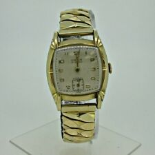Vintage Orvin Watch Co. Swiss Peseux 190 10k Rolled Gold Plated and Stainless St