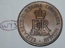 Canada 1953 Queen Elizabeth II Coronation Medal - Token Lot #W73