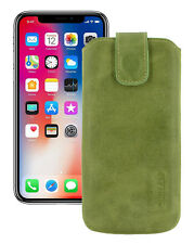 """IPHONE 11 pro 5.8 """" Leather Cover Case Protection Cover Kiwi-Green+Silicone Case"""