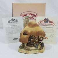 David Winter Pudding Cottage April British Traditions 1989 Original Box COA