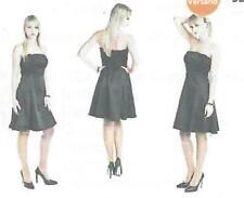 Sexy Satin Corsagen Kleid schwarz Gr. L/42