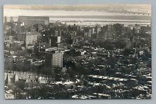 Montreal from Mount Royal RPPC Rare Antique Quebec Photo CPA AZO Snow 1930s