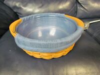 2004 Longaberger Tea Tray Basket with Blue Fabric Liner