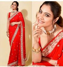 Bollywood Designer Saree Banglory Silk Blouse & Georgette Fabric Fancy NSR -249