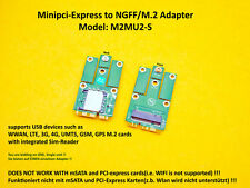miniPCI-express to M.2/NGFF (USB) Adapter for LTE,UMTS,3G,4G,WWAN card M2MU2-S
