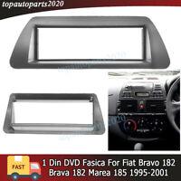 FIAT BRAVO 198 à partir de 2007 noir double din Fascia Panneau Avant Montage Kit Paquet