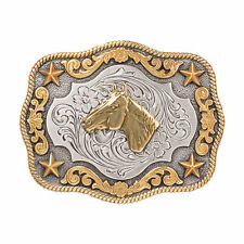 Nocona Youth Horse Head Rectangle Belt Buckle 3798907