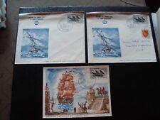FRANCE - 2 enveloppes 1 carte 1er jour 16/3/1957 (journee du timbre) (B14)french