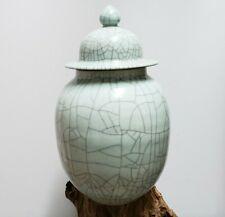 Chinese Old Ge Kiln Blue Crackle Glaze Porcelain Ginger Jar