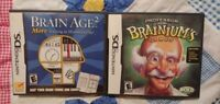 Brain Age 2 & Prof Brainium's Lot Nintendo DS DS Lite 3DS 2DS Game Works Tested