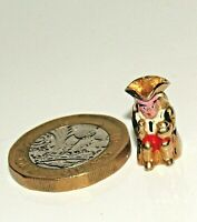 RARE VINTAGE 9ct YELLOW GOLD ENAMELLED TOBY BEER JUG CHARM/ PENDANT