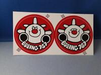 BOEING 757 STICKER DECAL LOT OF 2 VINTAGE AIRPLANE AVIATION COLLECTOR