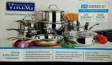 New listing Viking Stainless Steel with Cookware Set Pots and Pans Set 13Pcs