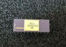 Vintage RCA Purple Ceramic & Gold 22 Pin DIP Chip Processor CD40116D