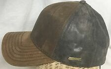 STETSON CAMPBELL GOAT PIG SKIN LEATHER SMALL 55cm GERMANY FITTED BALL CAP 6 7/8