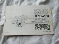 Tecumseh HS40 HS50 engine horizontal crankshaft owner's instruction manual