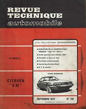 REVUE TECHNIQUE AUTOMOBILE 316 RTA 1972 ETUDE CITROEN SM EVO PEUGEOT 304 & 304 S