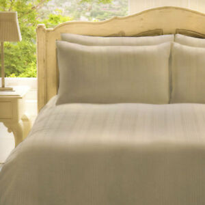 Frette Roma 100% Cotton 280 Thread Count Duvet Cover Set, Cream, Double