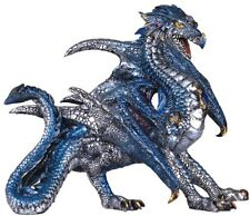 "10.75"" Blue Dragon Fantasy Figurine Statue Sculpture Collectible"