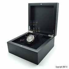 Luxury Wooden Matt Black Jewellery Bracelet Watch Box & Gift Presentation Box