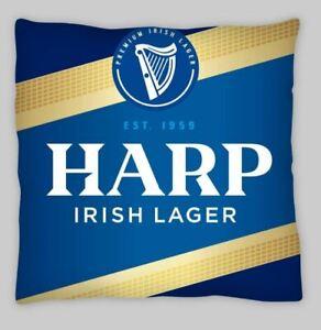 harp lager cave pub retro advertising LINEN CUSHION COVER, wine bar dublin