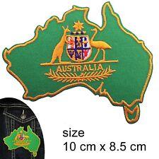 Australian Coat of arms Iron on patch - Australia map Aussie Oz iron-on patches