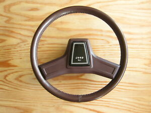 Used Jeep SJ Grand Wagoneer Steering Wheel OEM Cordovan Color 1987~91 8350 3181