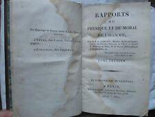 CABANIS : RAPPORTS DU PHYSIQUE ET DU MORAL DE L'HOMME, 1802. 2 volumes in-8. EO.