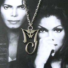 Michael Jackson collana  con MJ logo in lega ciondolo 4cm x 2.8cm per MJ Fans063