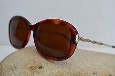 Trussardi occhiale da sole vintage 1980 asta intrecciata  mano marrone rotondo