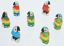 Lot 30 Small Parrots Figurines Balsa Wood Hand Carved Collectible Bird Wholesale