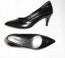 JONAK  escarpins cuir glacé noir P 38 = 37 TBE