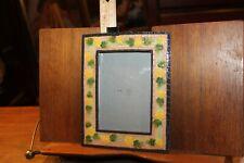"""Cold Cast Porcelain 3-1/2"""" x 5"""" Photo Picture Frame Floral"""