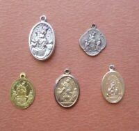 Lotto N. 5 Pendenti Medaglie Regina del S. Rosario Pompei (144)
