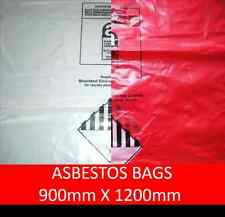 Asbestos Bags 1200mm x 900mm in Clear or Red
