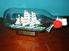 "Ship in a Bottle US COAST GUARD EAGLE Excellent! 7"" Long model-New from England"