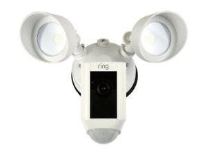*New* Ring Floodlight Camera Motion-Activated HD Security Cam Two-Way Talk White
