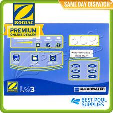 ZODIAC CLEARWATER LM3 CHLORINATOR TOP CONTROL LABEL – W175971