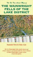 LAKE DISTRICT compact FELLS MAP - THE WAINWRIGHT FELLS  FOLDED MAP