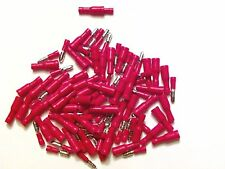 100 Bullet Crimp Red male female insulated terminals connector wire 22-18 AWG