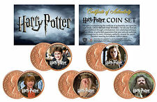HARRY POTTER Colorized UK British Halfpennies Coins 5-Coin Set - HEROES
