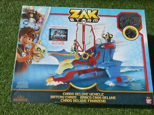 Bandai 41595 Zak Storm Chaos Deluxe Ship Vehicle Playset with 3 Coins