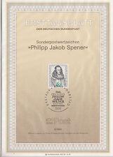 TIMBRE FDC ALLEMAGNE BONN OBL ERSTTAGSBLATT PHILIPP JAKOB SPENER 1985