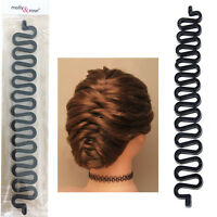 Hair French Plait Braid Braiding Maker Stick Tool Band Twist Roll Styling Spiral