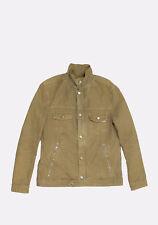 Original Prada Beige Men Jeans Denim Jacket in size 52